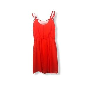 C. Luce neon orange lined dress size S